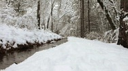 Stock Video Footage of Snowy Creek 2