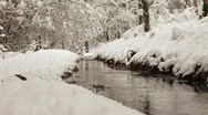 Stock Video Footage of Snowy Creek