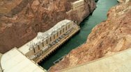 Hoover Dam Producing Hydro-electricity Stock Footage