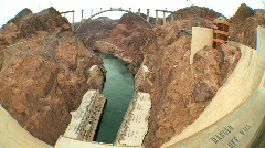 Hoover Dam Hydro-electric Power Station - stock footage