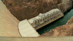 Hoover Dam Hydro-electric Power Station Stock Footage