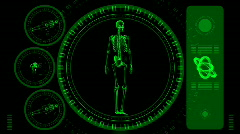 Skeleton Scan Screen - Hi-tech 14 (HD) Stock Footage