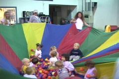 Kids in rainbow jumper Stock Footage