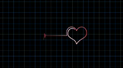 Heart puls line Stock Footage