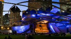 Chicago Millennium Park Jay Pritzker Pavilion HD Stock Footage