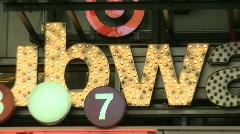 TiSq0106 subwaysign Stock Footage