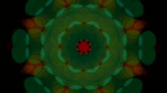 Light kaleidoscope effect Stock Footage