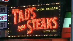 TiSq0048 tad's neon sign Stock Footage