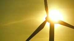 Wind Turbine & Solar Energy Source Stock Footage