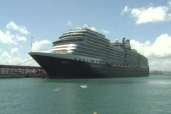 Puerto Rico - Cruise ship from Holland  in Old San Juan 2 - stock footage