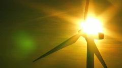 Wind Turbine & Solar Energy Source - stock footage