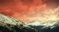 (1151) Early Early Colorado Winter Mountains Snow Sunset Clouds Skiing LOOP! HD Footage