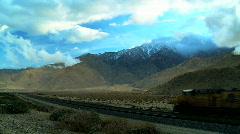 Freight Train on Deset Railroad Stock Footage