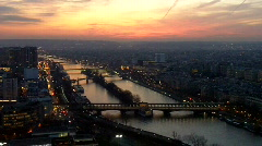 View of the river Seine, Paris, France - stock footage