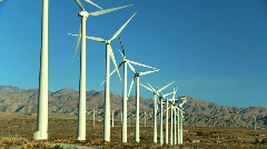 Clean & renewable wind energy Stock Footage