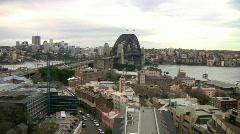 Sydney Harbor Aerial Pan - stock footage