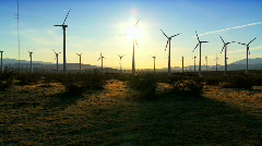 Clean wind energy at dusk - stock footage