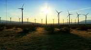 Clean wind energy at dusk Stock Footage