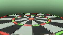 132 darts throwing dart board Stock Footage