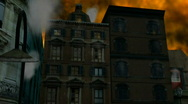 Buildings on Fire Stock Footage