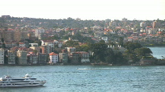 Sydney Harbor Zoom Out View - stock footage