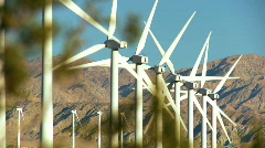 Clean renewable wind energy Stock Footage