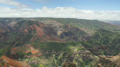 Waimea Canyon, Kauai, Hawaii Stock Footage