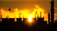 Oil Refinery Environmental Pollution Stock Footage