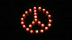 Burning symbol of peace Stock Footage