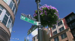 Street Sign Stock Footage