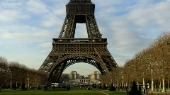 Eiffel Tower classic view Stock Footage