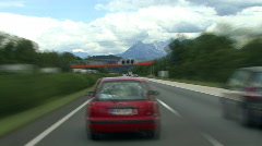 Time lapse highspeed austrian highway drive mountain Stock Footage