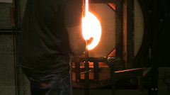 Glassmaking Stock Footage