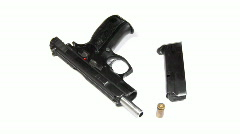 pistol unloaded - stock footage