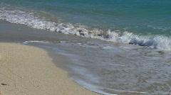 Miami Beach Shoreline Closeup Waves Stock Footage