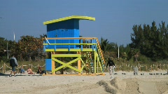 Lifeguard Tower  Stock Footage