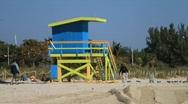 Lifeguard Tower  Stock Footage