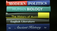 Stock Video Footage of Books, HD