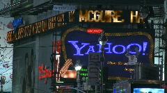 TiSq0062 01 yahoo neon sign Stock Footage