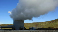 Geothermal Power Generator, close Stock Footage