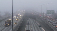 Stock Video Footage of freeway fog time lapse