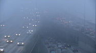 Stock Video Footage of freeway fog