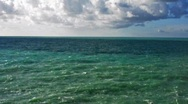 Sea&cloudy sky with audio HD 1280x720 Stock Footage