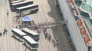 Passengers disembark Stock Footage