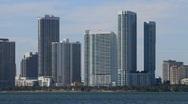 Downtown Miami Condos Stock Footage