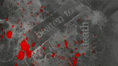 Horror Grunge Loop with blood splatter Stock Footage
