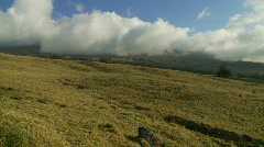 Time Lapse   Cloud Covered Mountains - Kula Hawaii - stock footage