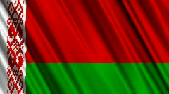 Belarus Flag Loop 01 Stock Footage