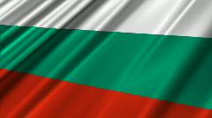 Bulgaria Flag Loop 02 Stock Footage