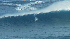 Stock Video Footage of Big Wave Surfers at Jaws, Maui Hawaii